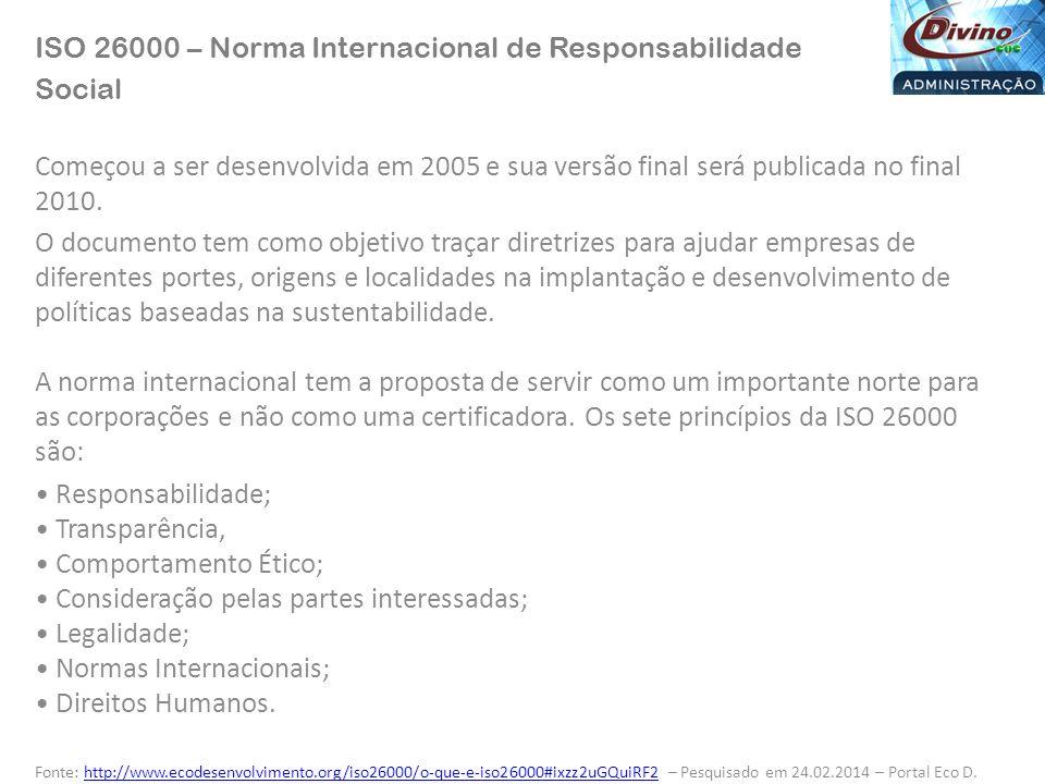 ISO 26000 – Norma Internacional de Responsabilidade Social