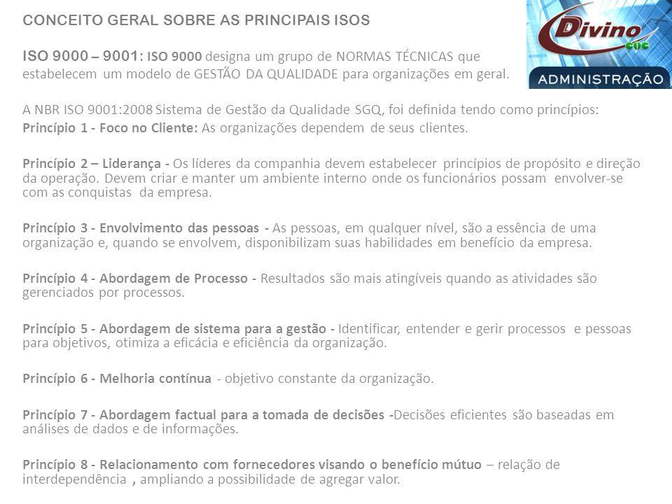 CONCEITO GERAL SOBRE AS PRINCIPAIS ISOS