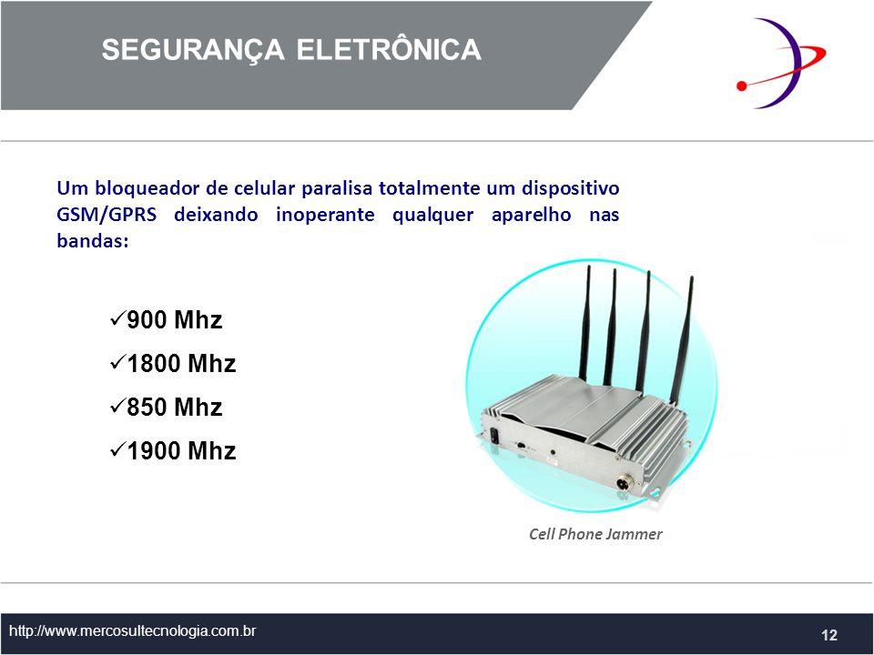 SEGURANÇA ELETRÔNICA 900 Mhz 1800 Mhz 850 Mhz 1900 Mhz
