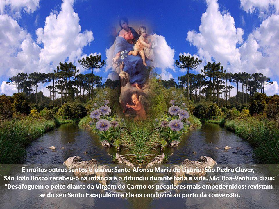 E muitos outros santos o usava: Santo Afonso Maria de Ligório, São Pedro Claver,