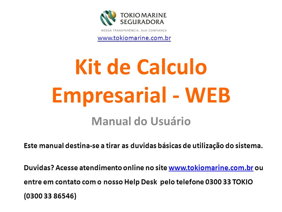 Kit de Calculo Empresarial - WEB