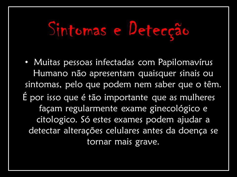 Sintomas e Detecção