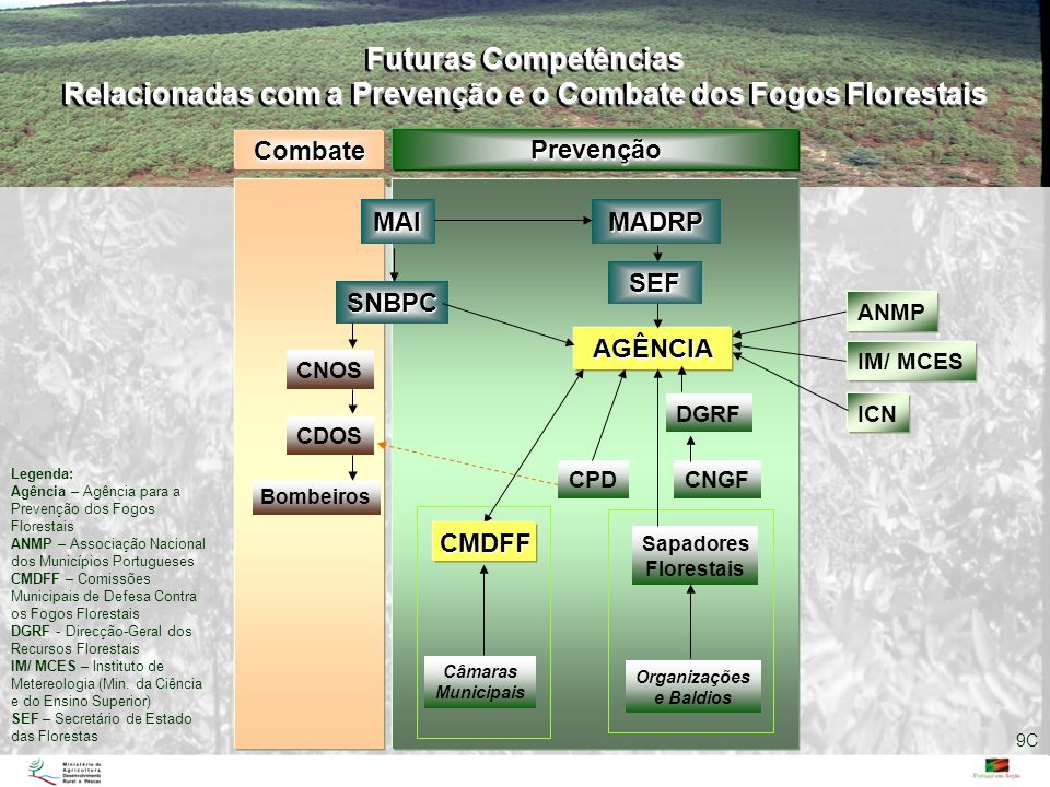 Relacionadas com a Prevenção e o Combate dos Fogos Florestais