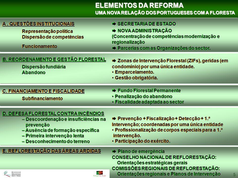 ELEMENTOS DA REFORMA UMA NOVA RELAÇÃO DOS PORTUGUESES COM A FLORESTA