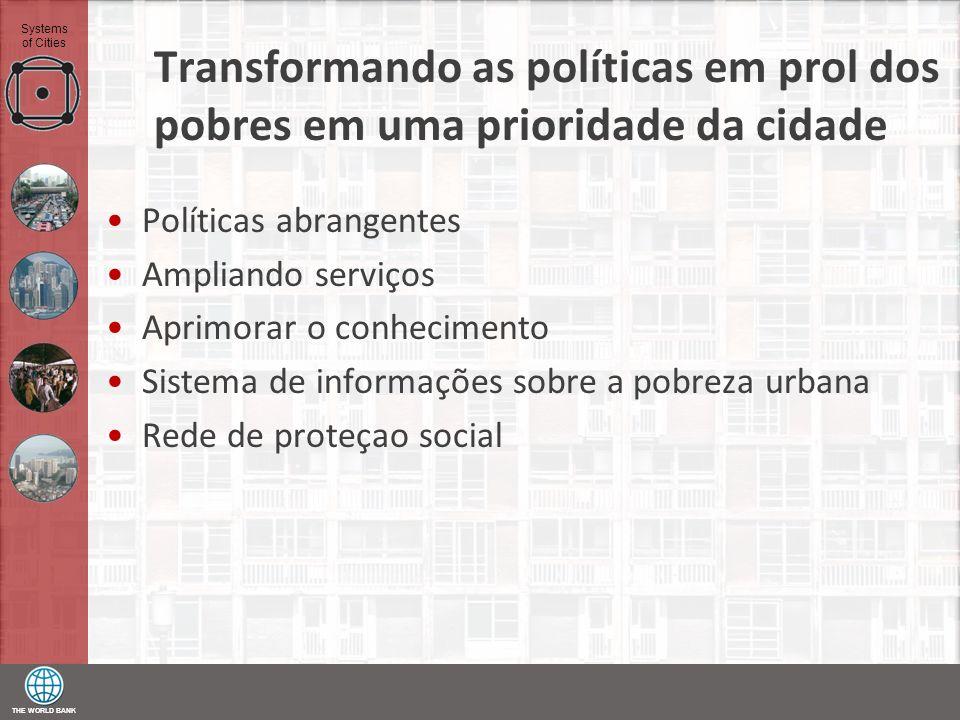 Transformando as políticas em prol dos pobres em uma prioridade da cidade