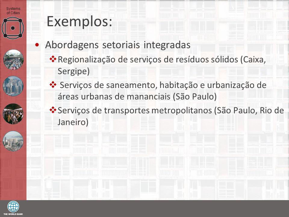 Exemplos: Abordagens setoriais integradas
