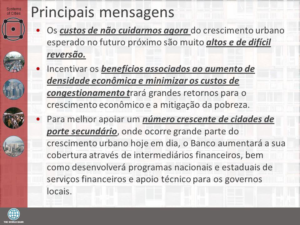 Principais mensagens Os custos de não cuidarmos agora do crescimento urbano esperado no futuro próximo são muito altos e de difícil reversão.