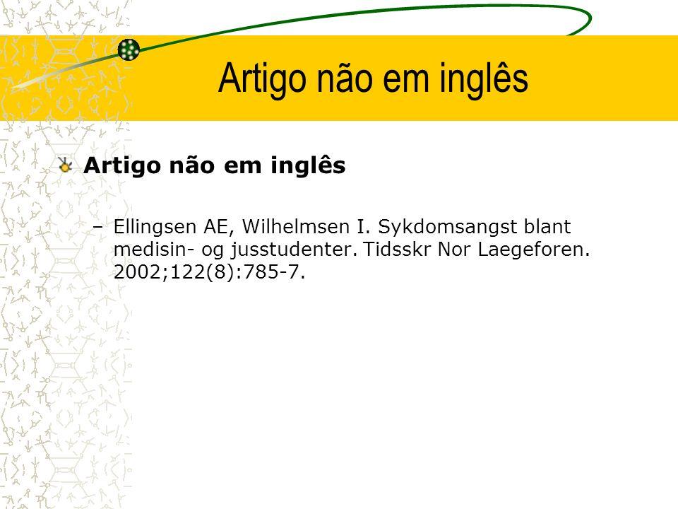 Artigo não em inglês Artigo não em inglês