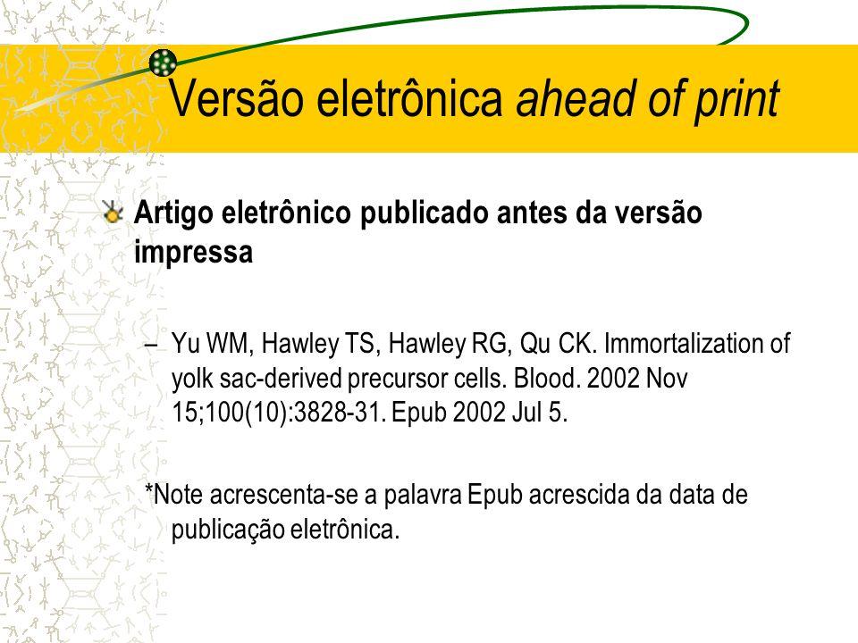 Versão eletrônica ahead of print