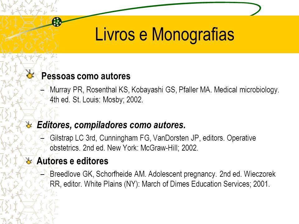 Livros e Monografias Pessoas como autores