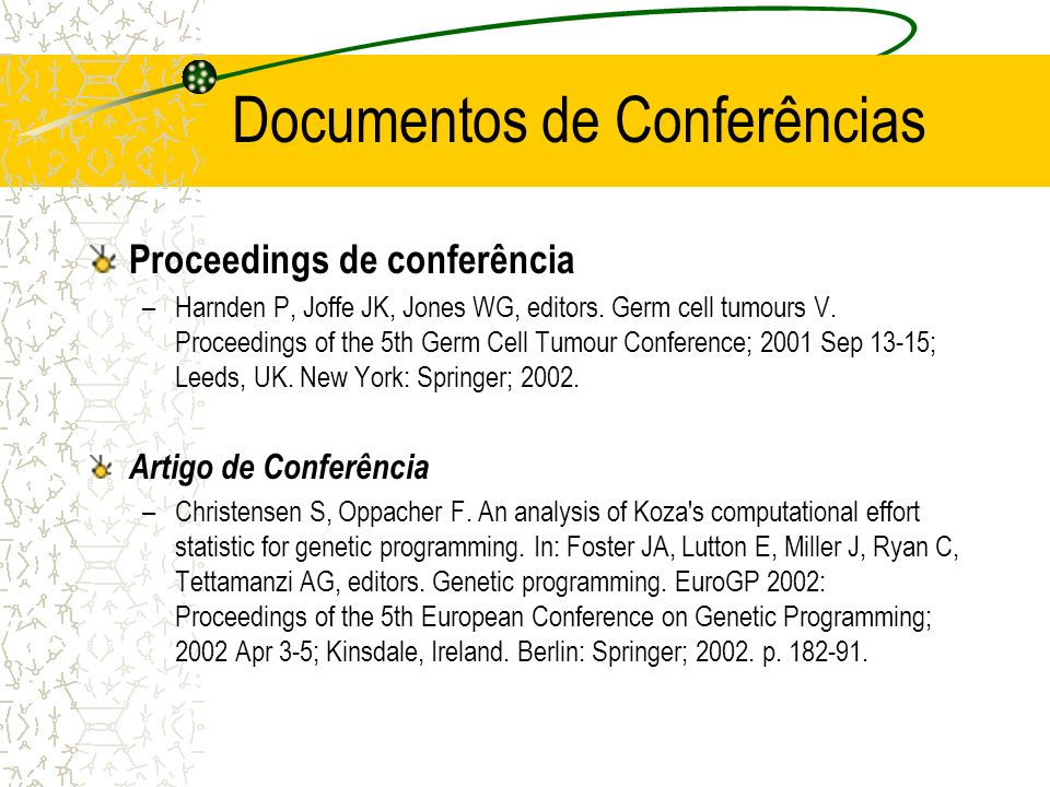Documentos de Conferências