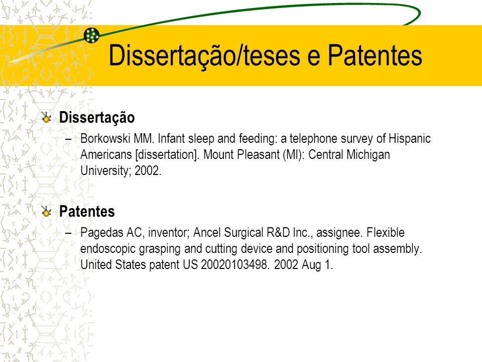Dissertação/teses e Patentes