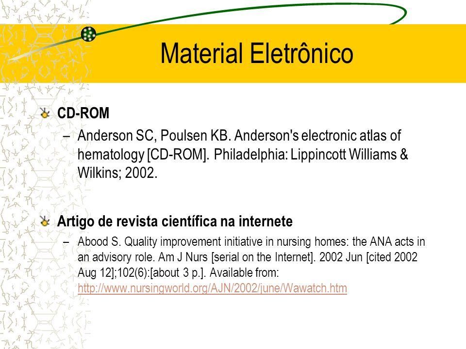 Material Eletrônico CD-ROM