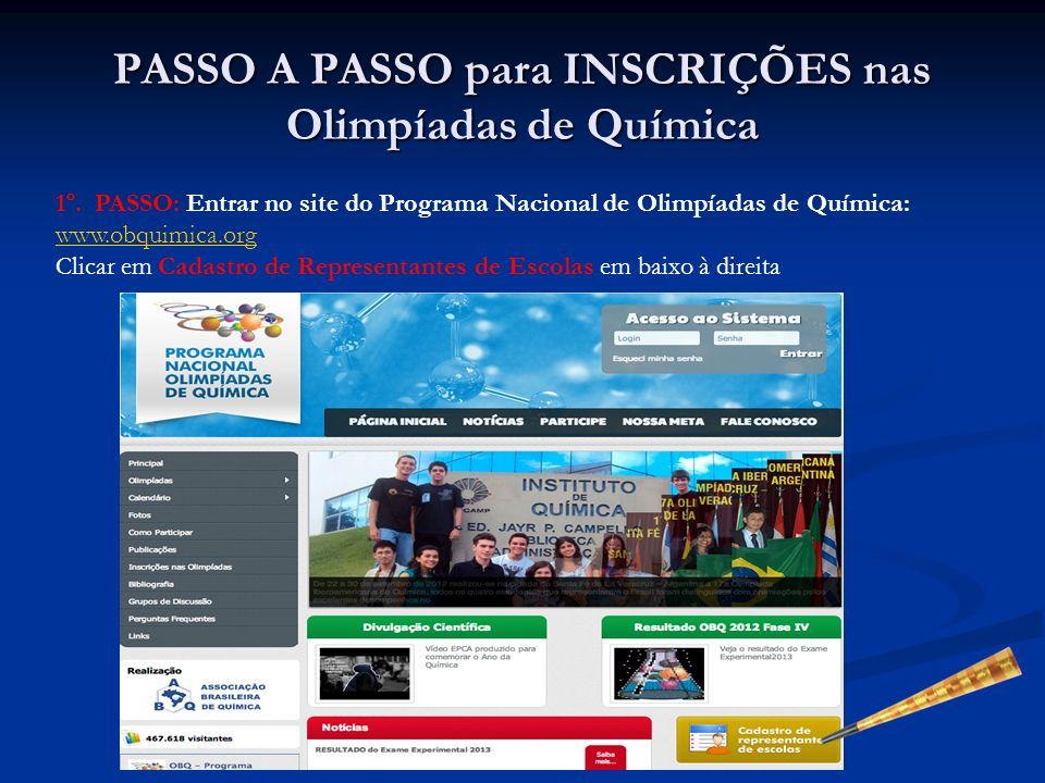 PASSO A PASSO para INSCRIÇÕES nas Olimpíadas de Química