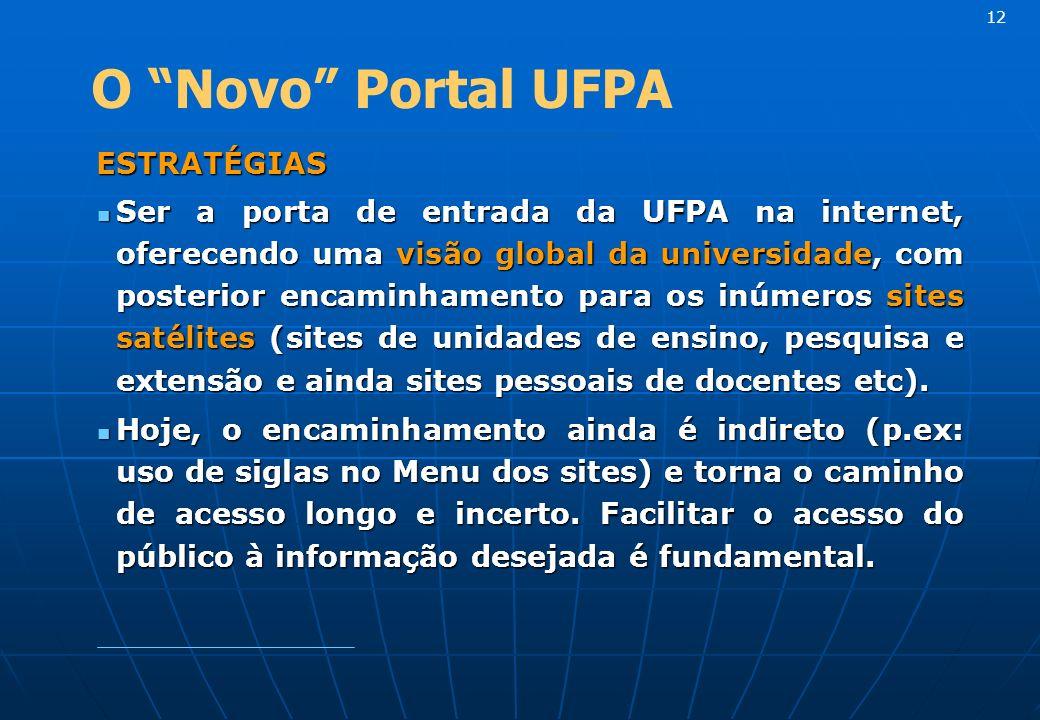 12 O Novo Portal UFPA. ESTRATÉGIAS.
