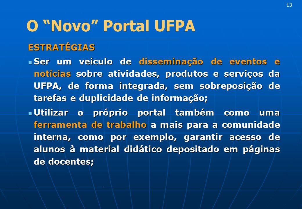 13 O Novo Portal UFPA. ESTRATÉGIAS.