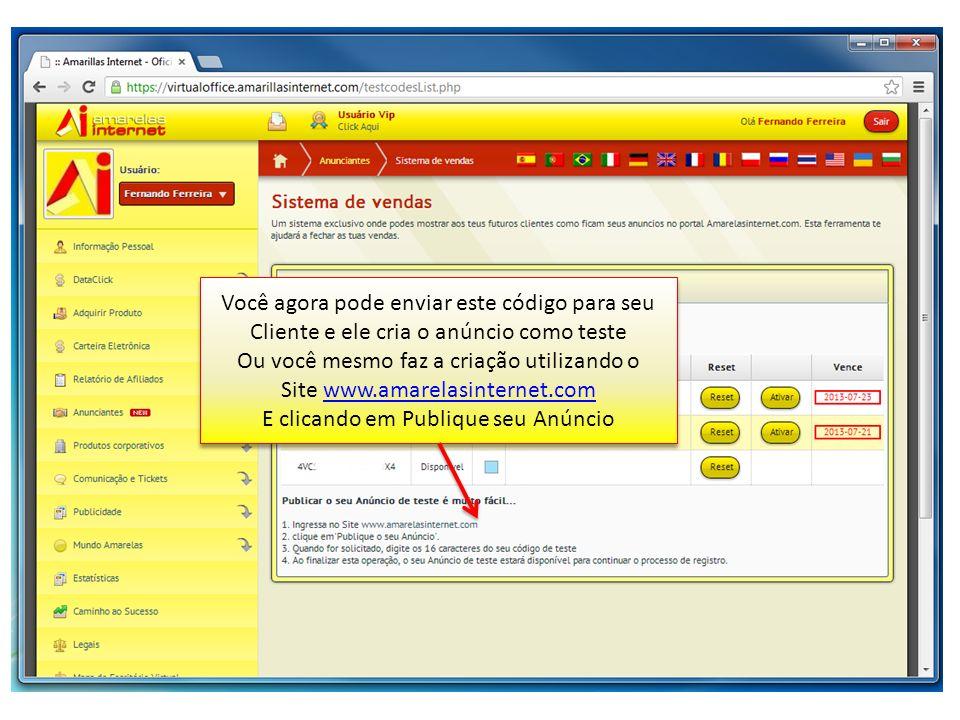 Ou você mesmo faz a criação utilizando o Site www.amarelasinternet.com