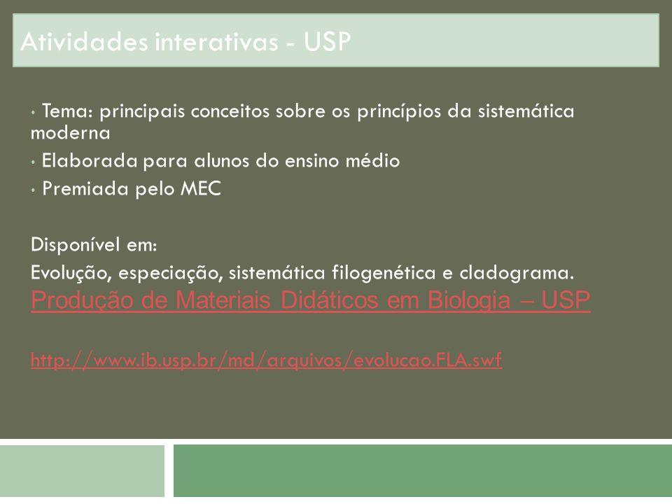 Atividades interativas - USP