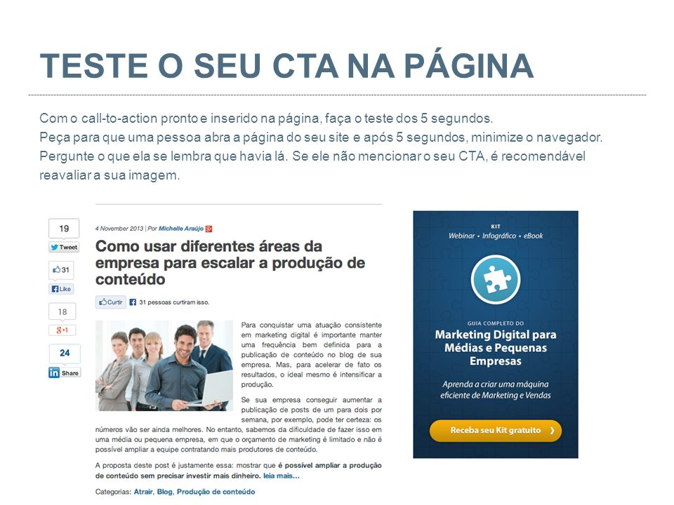 TESTE O SEU CTA NA PÁGINA