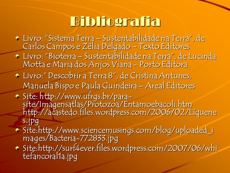 Bibliografia Livro: Sistema Terra – Sustentabilidade na Terra , de Carlos Campos e Zélia Delgado – Texto Editores.