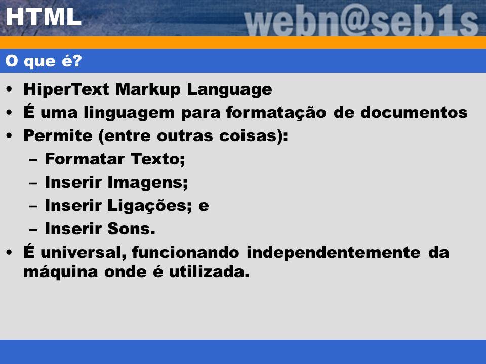 HTML O que é HiperText Markup Language