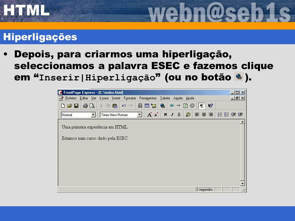 HTML Hiperligações.