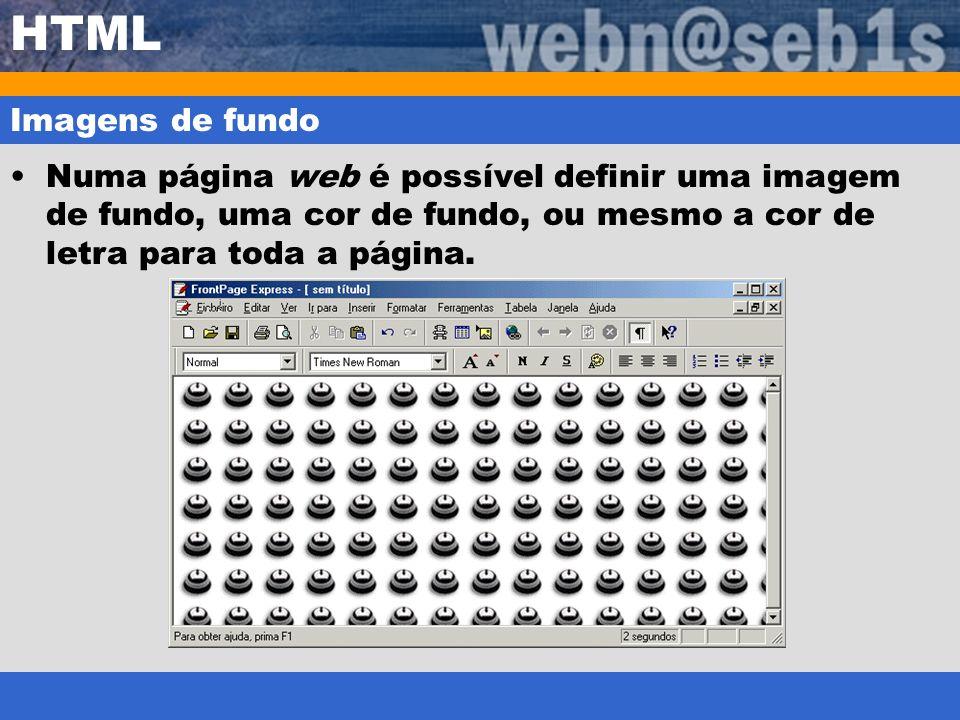 HTML Imagens de fundo.