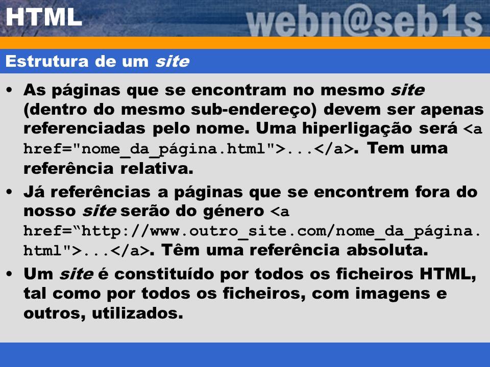 HTML Estrutura de um site