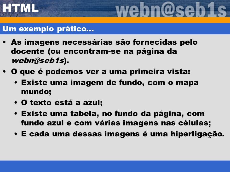 HTML Um exemplo prático...