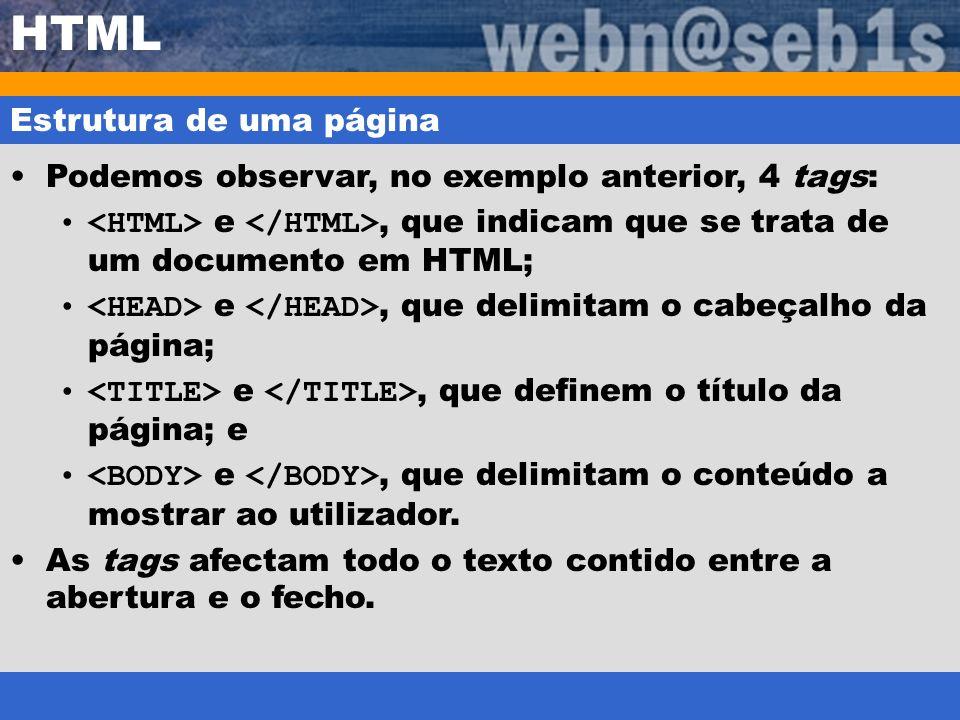 HTML Estrutura de uma página
