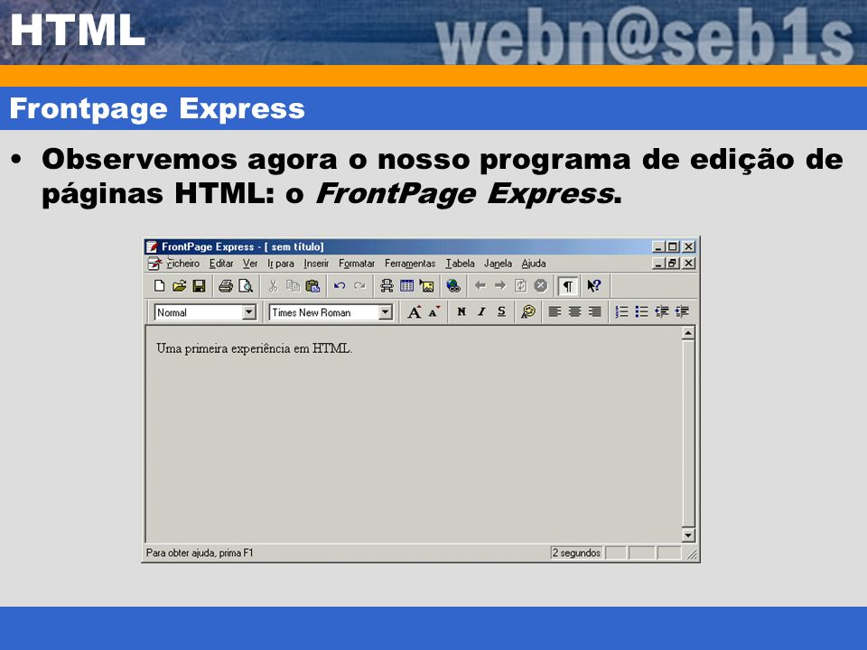 HTML Frontpage Express