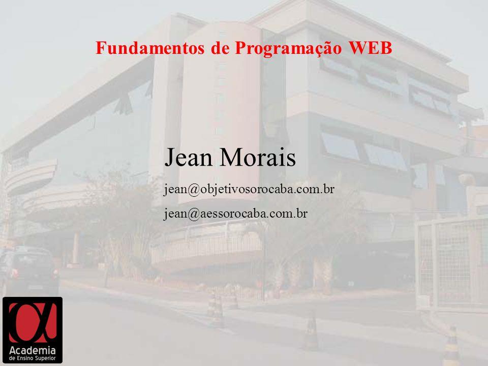 Jean Morais Fundamentos de Programação WEB