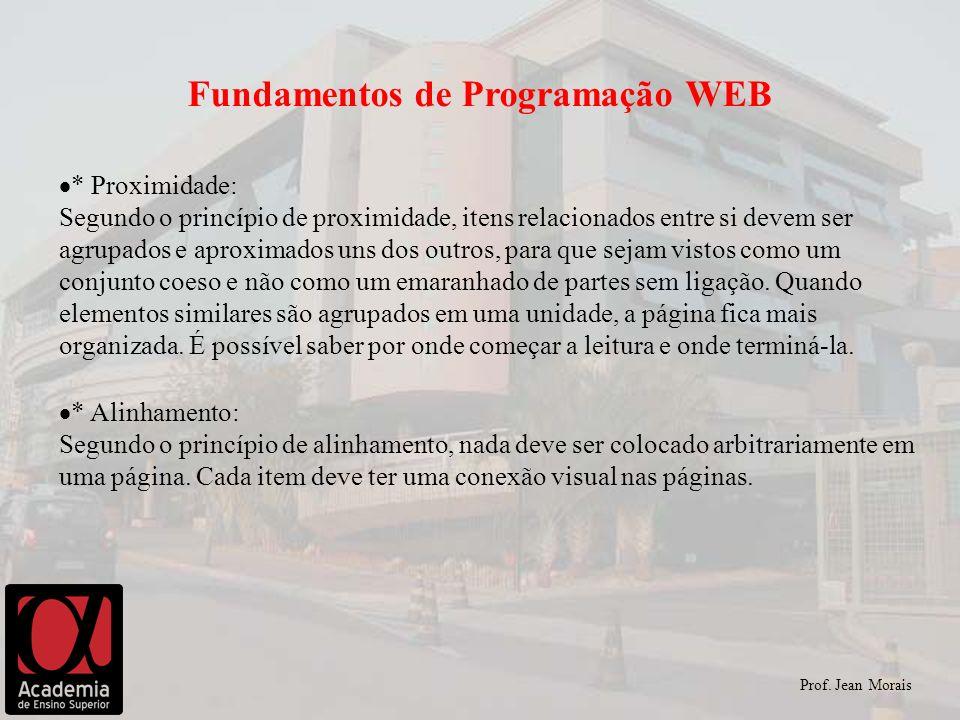 Fundamentos de Programação WEB