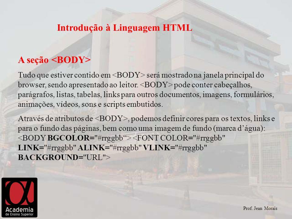 Introdução à Linguagem HTML