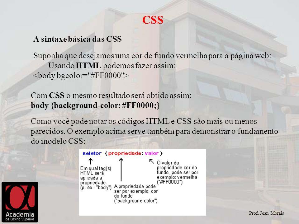 CSS A sintaxe básica das CSS
