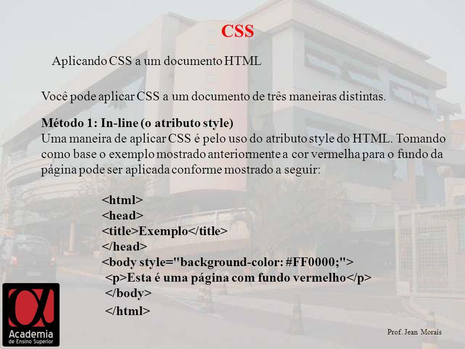 CSS Aplicando CSS a um documento HTML