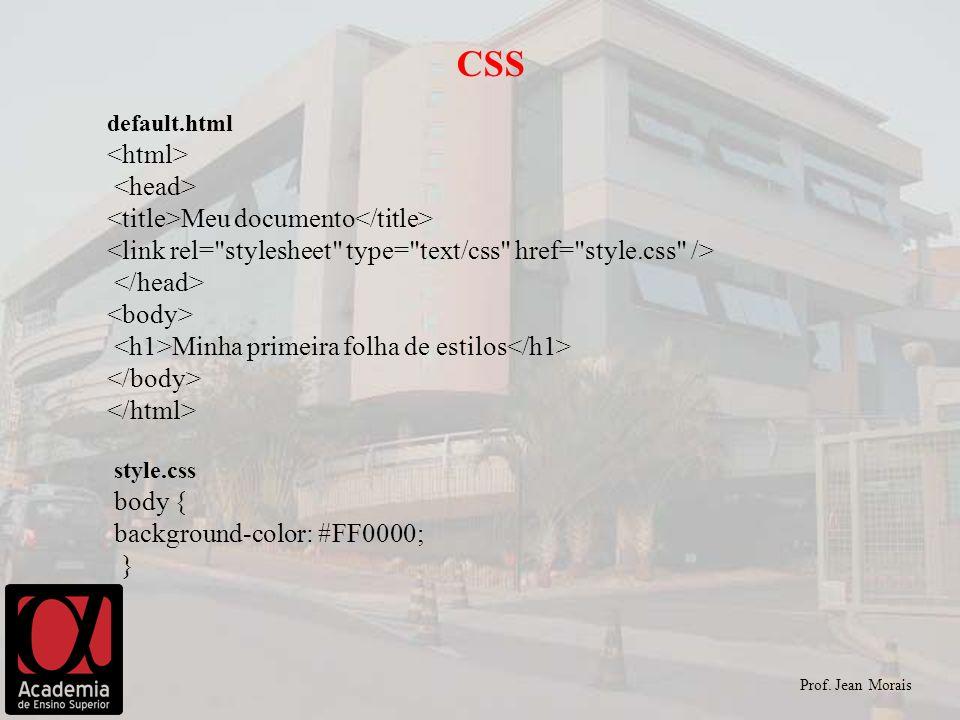 CSS <html> <head> <title>Meu documento</title>