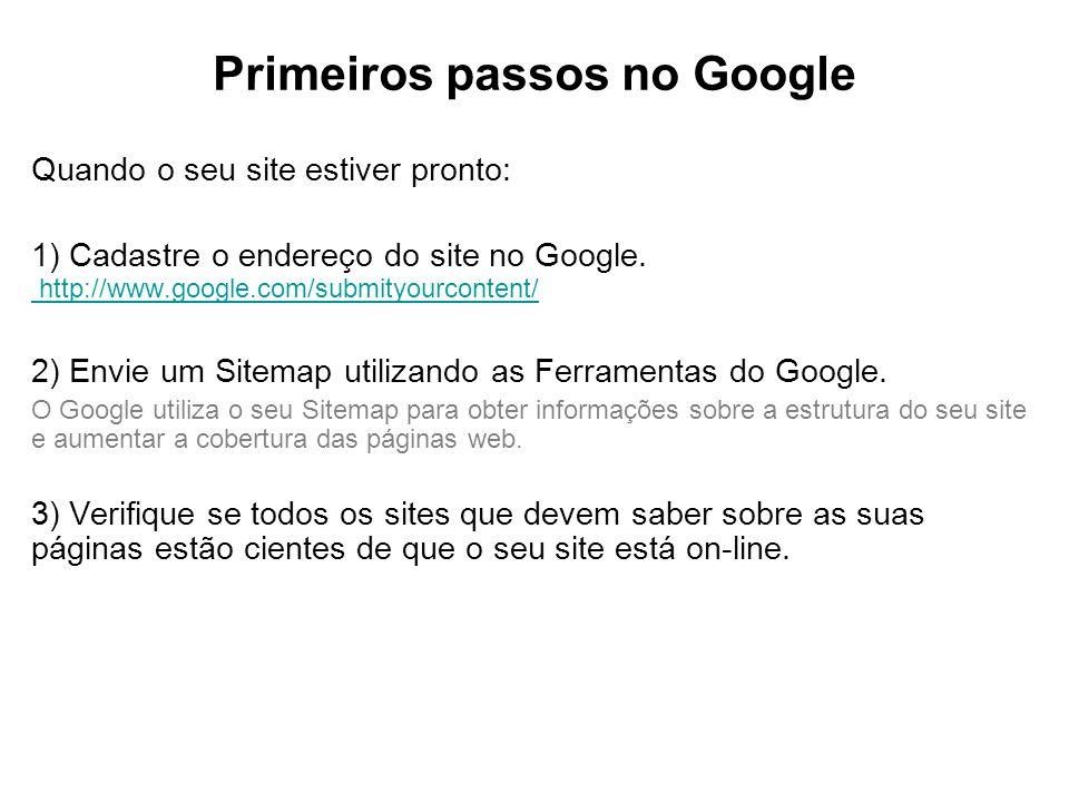 Primeiros passos no Google