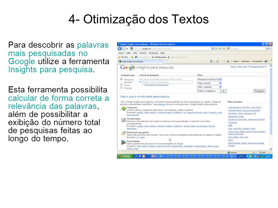 4- Otimização dos Textos