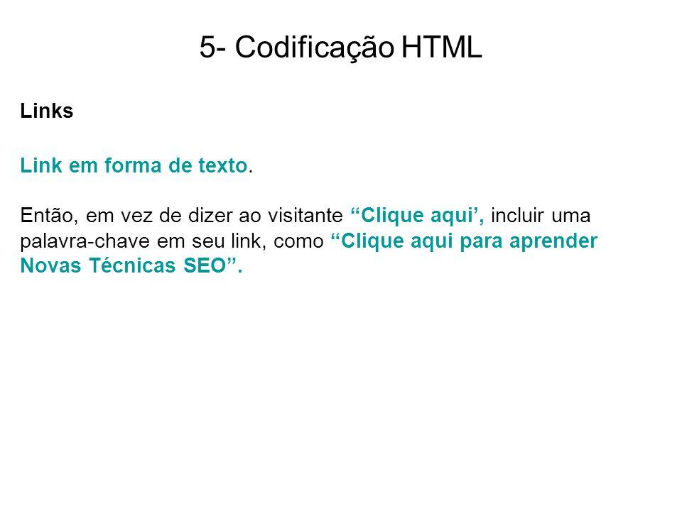 5- Codificação HTML Links