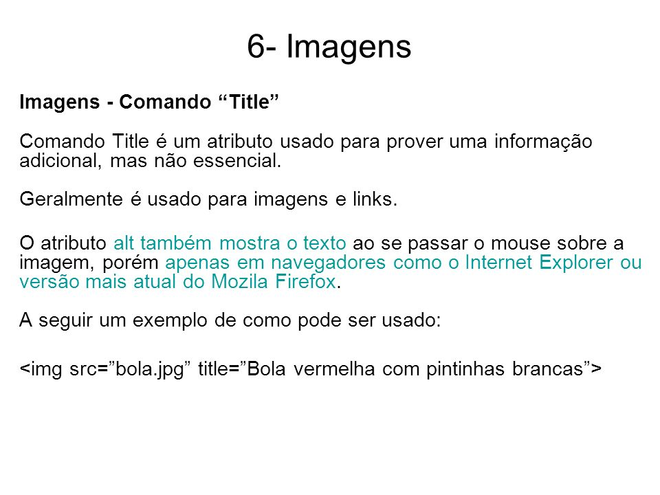 6- Imagens