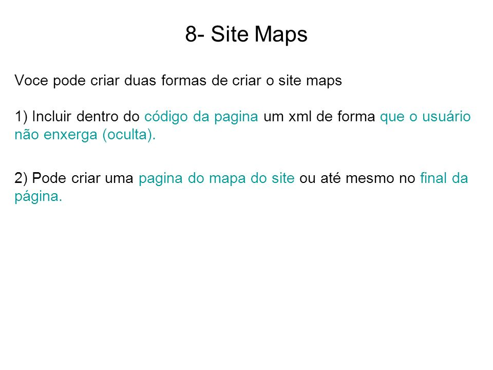 8- Site Maps
