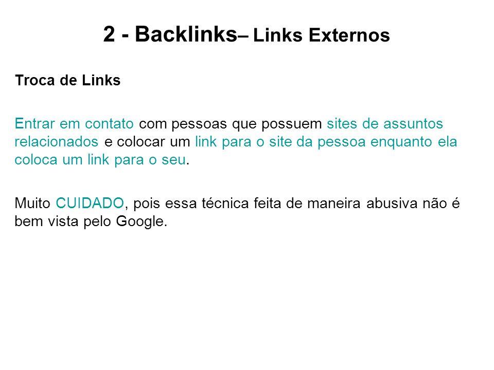 2 - Backlinks– Links Externos