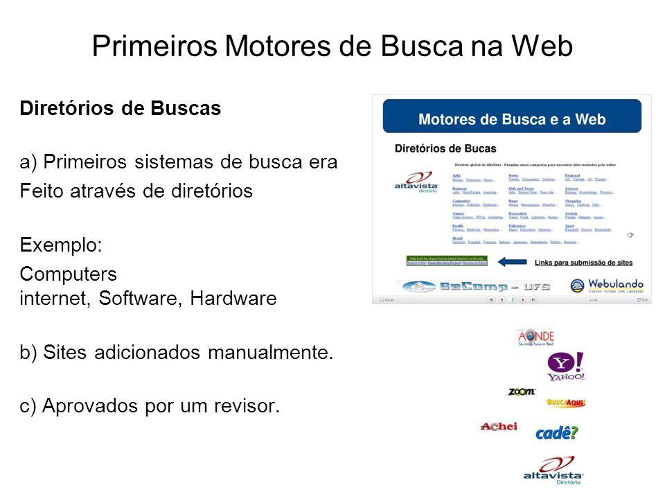 Primeiros Motores de Busca na Web
