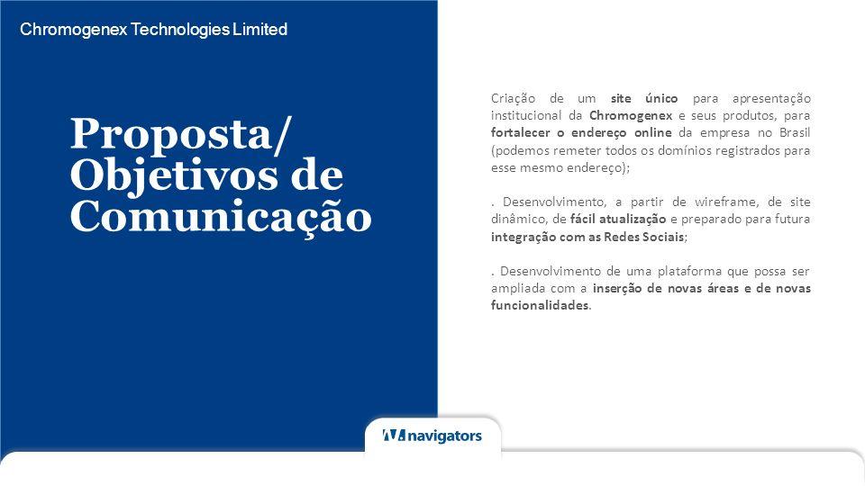 Proposta/ Objetivos de Comunicação Chromogenex Technologies Limited