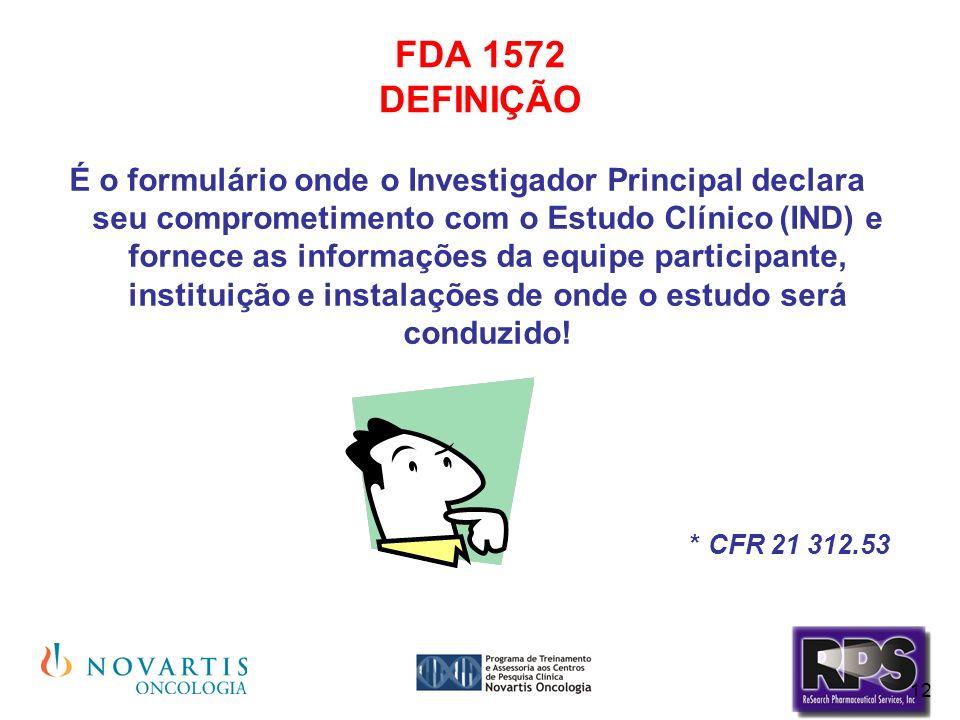 FDA 1572 DEFINIÇÃO