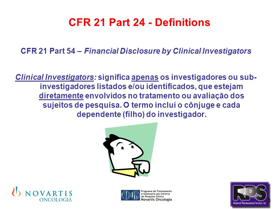 CFR 21 Part 54 – Financial Disclosure by Clinical Investigators
