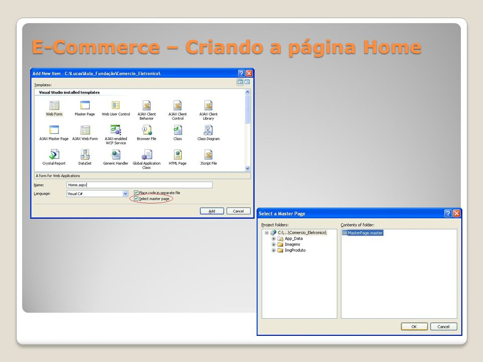 E-Commerce – Criando a página Home