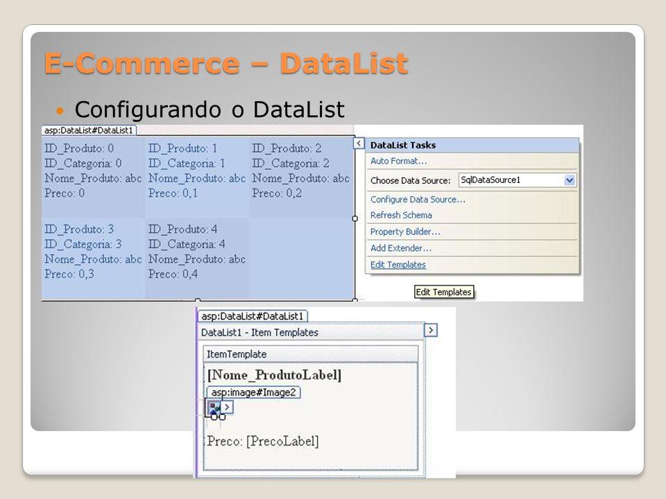 E-Commerce – DataList Configurando o DataList