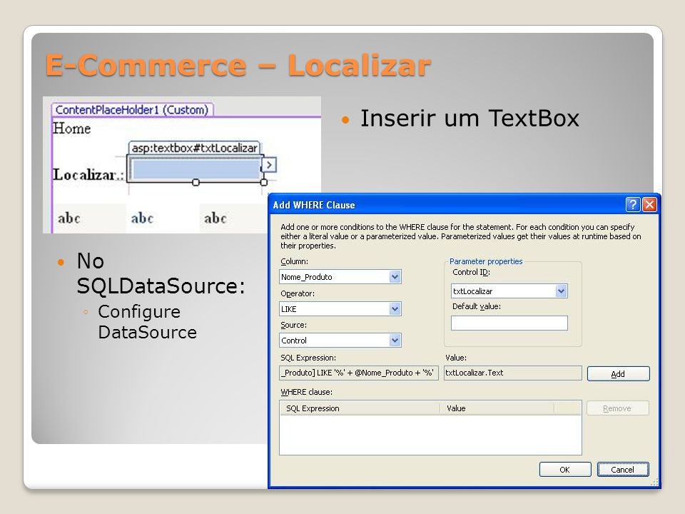 E-Commerce – Localizar